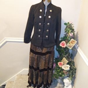 EUC Maurices Charcoal Victorian/Steampunk Jacket
